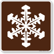 Winter Recreation Area Symbol Sign For Campsite