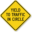 Yield To Traffic In Circle Sign