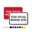 Custom Sign Template - Add Your Special Wording