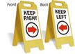 Keep Right (W/Right Arrow) Fold-Ups® Floor Sign