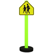 School Crossing Sign On Round Portable Cookie Base