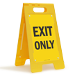 Exit Only Portable Floor Sign