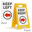 Keep Right (W/Right Arrow) Fold-Ups® Floor Sign