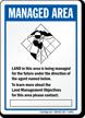 Land Management Area Sign