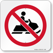 No Snow mobiles Graphic Sign