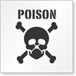 Poison Floor Stencil
