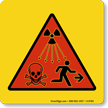 Radiation Waves Dangers, Warning Sign Symbol