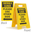 2-Sided Standing Floor Sign