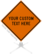 Custom Orange Roll-Up Sign