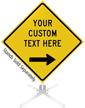 Custom Yellow Roll-Up Sign - Right Arrow