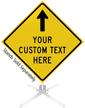 Custom Yellow Roll-Up Sign - Up Arrow