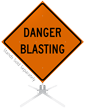 Danger Blasting Roll-Up Sign