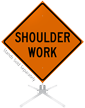 Shoulder Work Roll-Up Sign