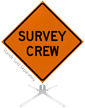 Survey Crew Roll-Up Sign