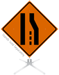 Merge Left Symbol Roll-Up Sign