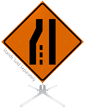 Merge Right Symbol Roll-Up Sign
