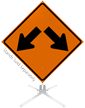 Arrow Left And Right Symbol Roll-Up Sign