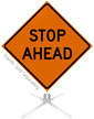 Stop Ahead Roll-Up Sign