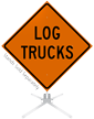 Log Trucks Roll-Up Sign