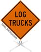 Log Trucks Roll-Up Sign