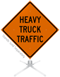 Heavy Truck Traffic Roll-Up Sign