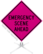 Emergency Scene Ahead Roll-Up Sign