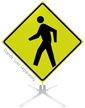 Pedestrian Crossing Symbol Roll-Up Sign