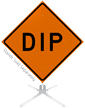 Dip Roll-Up Sign