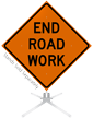 End Road Work Roll-Up Sign