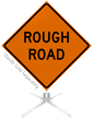 Rough Road Roll-Up Sign