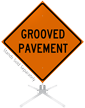 Grooved Pavement Roll-Up Sign