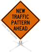 New Traffic Pattern Ahead Roll-Up Sign
