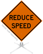 Reduce Speed Roll-Up Sign
