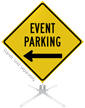 Event Parking Left Arrow Roll-Up Sign
