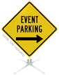 Event Parking Right Arrow Roll-Up Sign