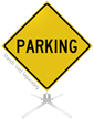 Parking Roll-Up Sign