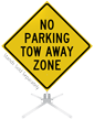 No Parking Tow Away Zone Roll-Up Sign