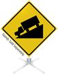 Hill Symbol Roll-Up Sign