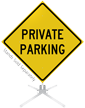 Private Parking Roll-Up Sign