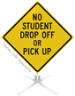 No Drop Off Or Pick Up Roll-Up Sign