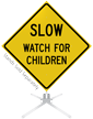 Watch For Children Roll-Up Sign