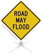 Road May Flood Roll-Up Sign