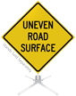 Uneven Road Surface Roll-Up Sign