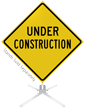 Under Construction Road Roll-Up Sign