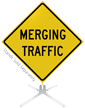 Merging Traffic Roll-Up Sign
