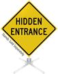 Hidden Entrance Roll-Up Sign