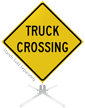 Truck Crossing Roll-Up Sign