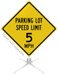Parking Lot Speed Limit Roll-Up Sign
