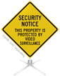 Property Protected By Video Surveillance Roll-Up Sign