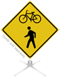 Bicycle Crossing Symbol Roll-Up Sign